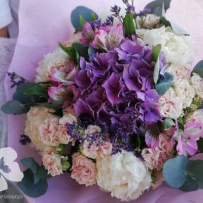 Mixed bouquet with hydrangea
