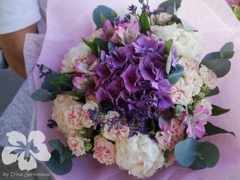 Pastelová kytice