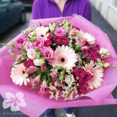 růžová dárková kytice