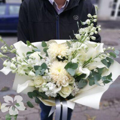 Bílá dárková kytice