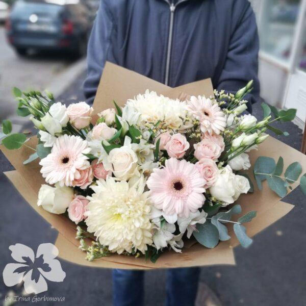 Pastelová dárková kytice