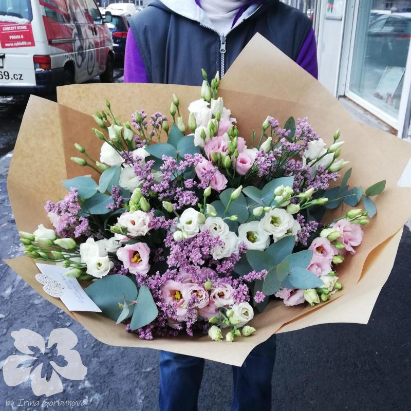 Bouquet of eustomas