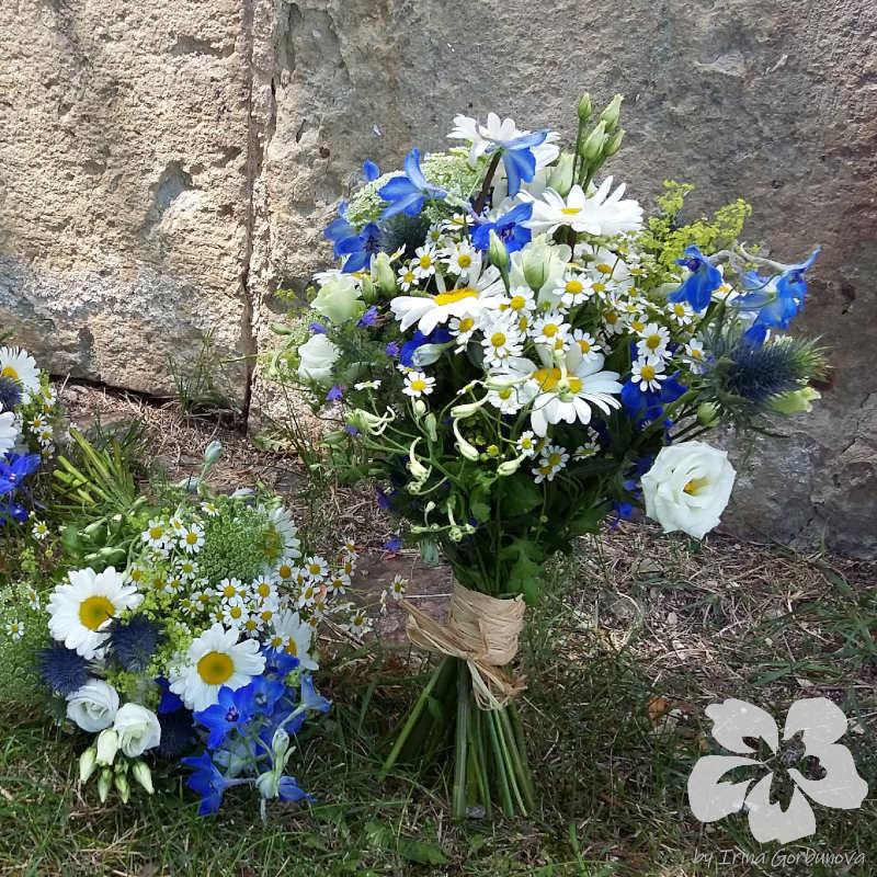 Luční kytice nevěsty