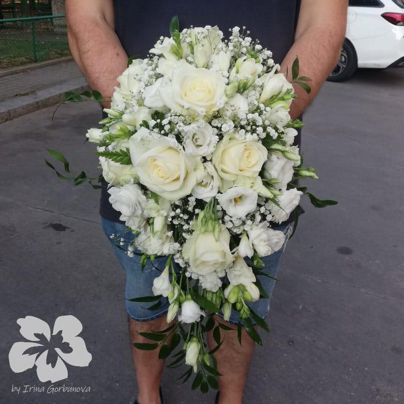 überhängender Brautstrauß